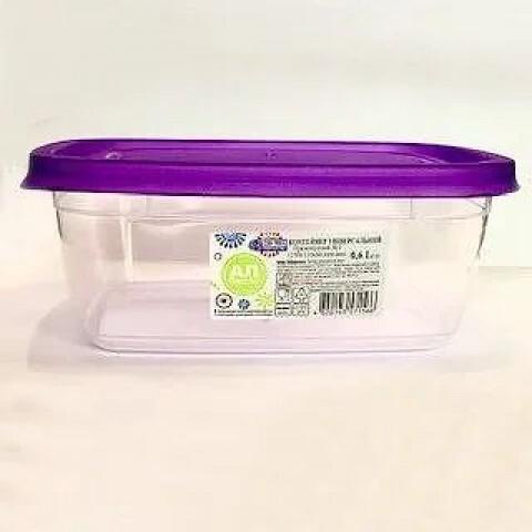 Контейнер пищевой ECONOM BOX прямоугольный 0.6 л Ал-Пластик