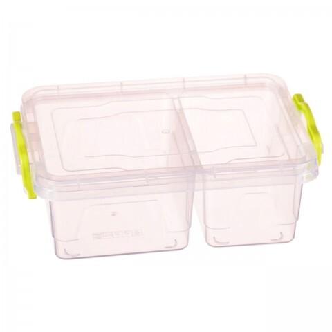 Контейнер пищевой TWIN  №2 1.03 Л (0.42+0.61), Ал-Пластик, Арт.: 21-1
