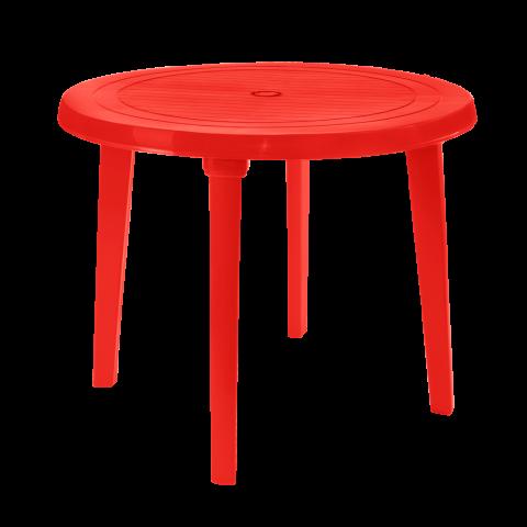 Стол круглый Ø90 см красный Алеана 100011