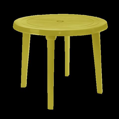 Стол круглый Ø90 см горчичный Алеана 100011