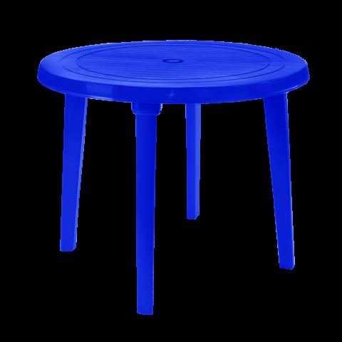 Стол круглый Ø90 см синий Алеана 100011