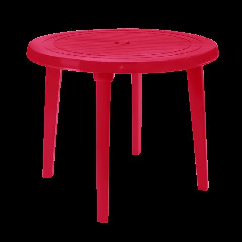 Стол круглый Ø90 см малиновый Алеана 100011