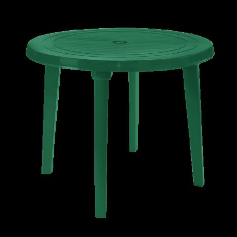 Стол круглый Ø90 см зелёный Алеана 100011
