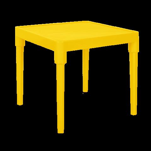 Стол детский Алфавит 51х51х47 см жёлтый Алеана 100025