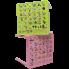 Стол детский Алфавит 51х51х47 см голубой Алеана 100025