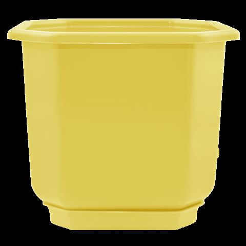 Вазон c подставкой Дама 23 л жёлтый Алеана (112021)