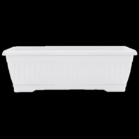 Вазон балконный Терра 9 л, 50 см белый Алеана (112091)