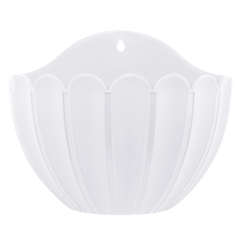 Вазон Марго настенный 1,8 л белый Алеана (113030)