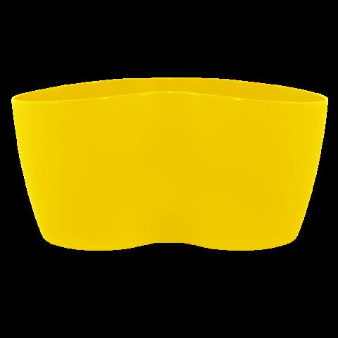 Вазон кактусник для нескольких растений 0,9 л жёлтый Алеана (113052)