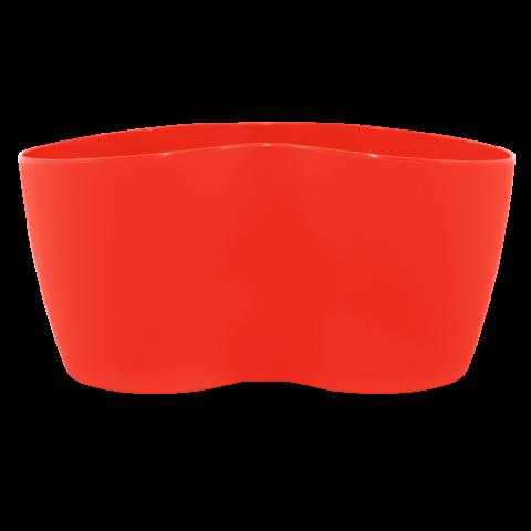 Вазон кактусник для нескольких растений 0,9 л красный Алеана (113052)