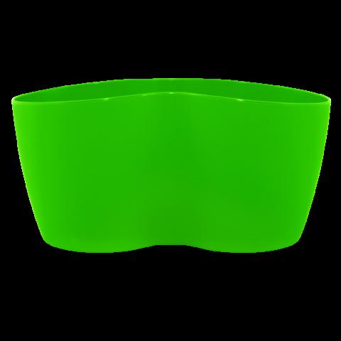 Вазон кактусник для нескольких растений 0,9 л зелёный Алеана (113052)