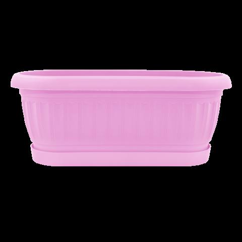 Вазон Терра кактусовка 1,2 л розовый Алеана (113055)