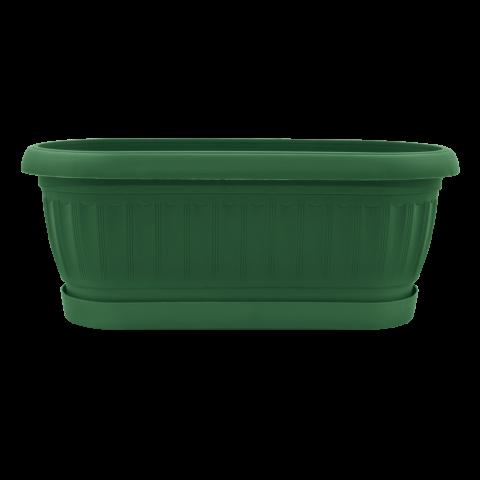 Вазон Терра кактусовка 1,2 л зелёный Алеана (113055)