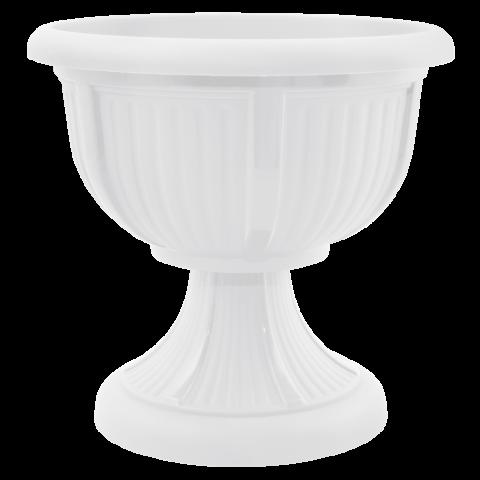 Вазон с подставкой Леон Ø51 белый 29 л Алеана (114001)