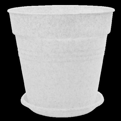 Вазон с подставкой Глория Ø19 см мрамор 3,1 л Алеана (114018)