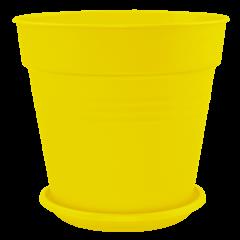 Вазон с подставкой Глория Ø11 см жёлтый 0,6 л Алеана (114015)