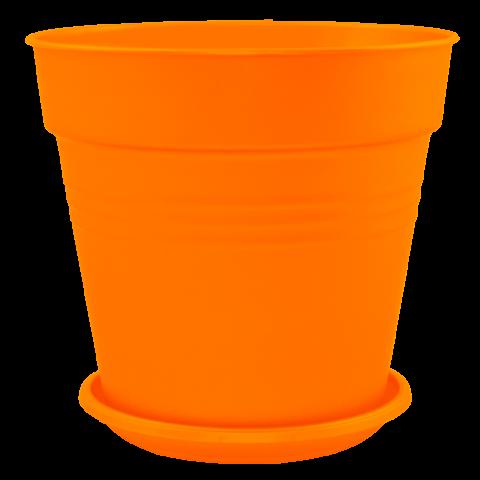 Вазон с подставкой Глория Ø15 см оранжевый 1,6 л Алеана (114016)
