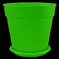 Вазон с подставкой Глория Ø11 см зелёный 0,6 л Алеана (114015)