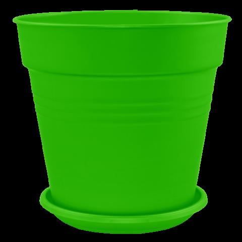 Вазон с подставкой Глория Ø24 см зелёный 6,6 л Алеана (114017)