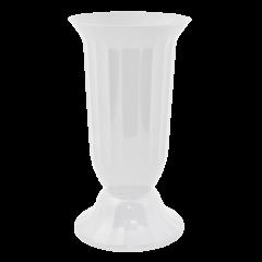 Ваза для цветов Флора Ø 16 см белый 2 л Алеана (114037)