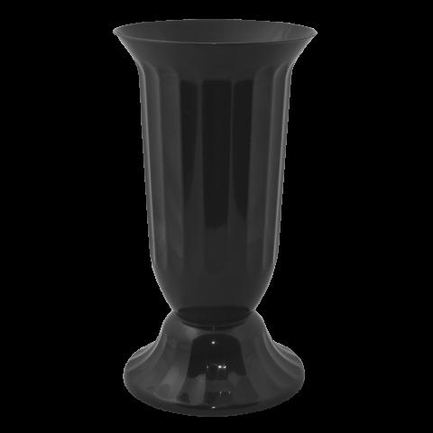 Ваза для цветов Флора Ø 16 см чёрный 2 л Алеана (114037)