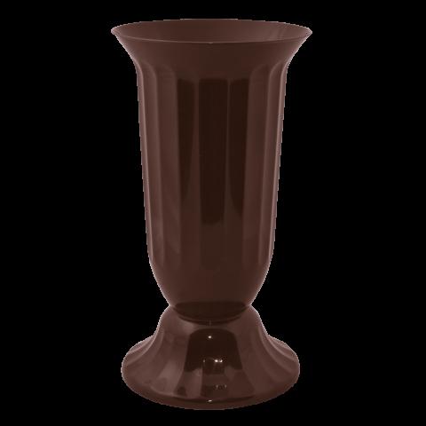 Ваза для цветов Флора Ø 16 см коричневый 2 л Алеана (114037)