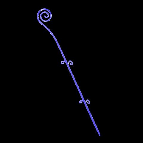Опора для орхидей Спираль 64 см синий Алеана (114043)