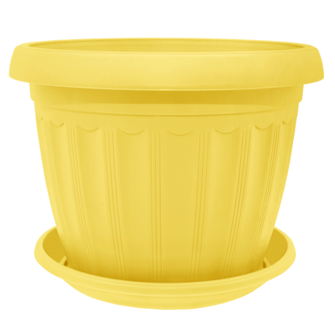 Вазон c подставкой Терра 0,35 л жёлтый Алеана (112070)