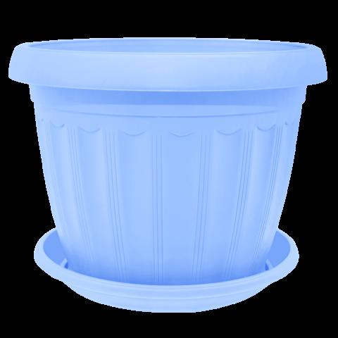 Вазон c подставкой Терра 9,5 л голубой Алеана (112064)