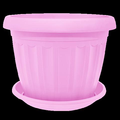 Вазон c подставкой Терра 0,8 л розовый Алеана (112068)