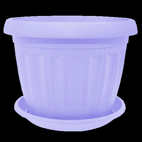 Вазон c подставкой Терра 0,55 л фиолетовый Алеана (112069)