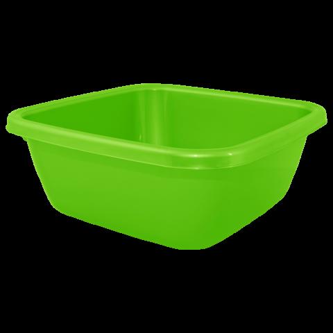 Таз квадратный 6 л зелёный Алеана 121042