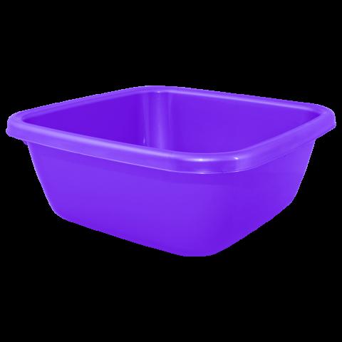 Таз квадратный 6 л фиолетовый Алеана 121042
