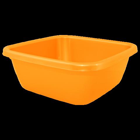 Таз квадратный 9 л оранжевый Алеана 121043