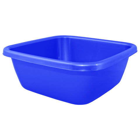 Таз квадратный 6 л синий Алеана 121042
