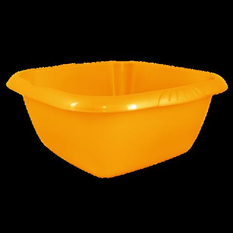 Таз Евро 9 л квадратный оранжевый Алеана 121046