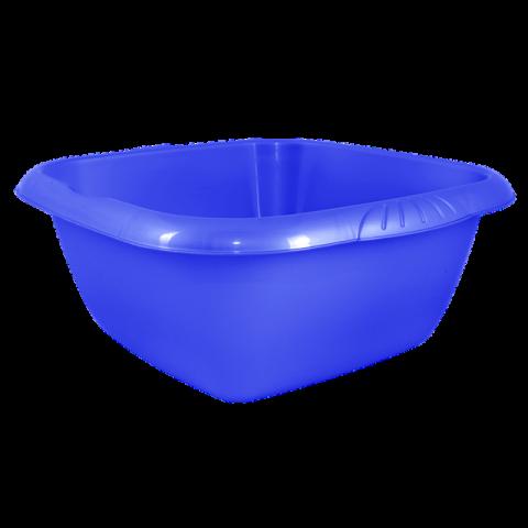 Таз Евро 9 л квадратный синий Алеана 121046