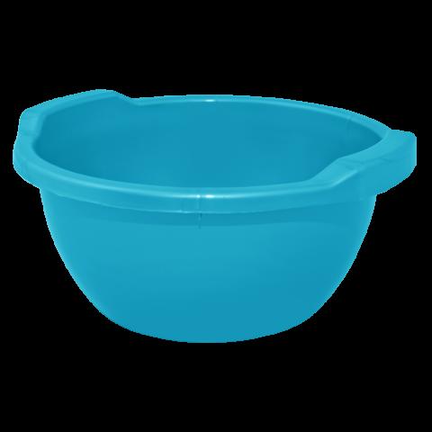 Таз круглый 8 л тёмно-голубой Алеана 121053