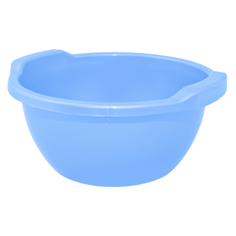 Таз круглый 44 л светло-голубой Алеана 121056