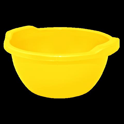 Таз круглый 24 л жёлтый Алеана 121055