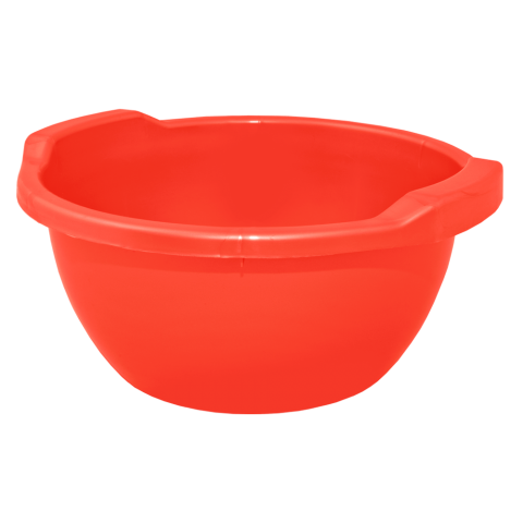 Таз круглый 15 л красный Алеана 121054