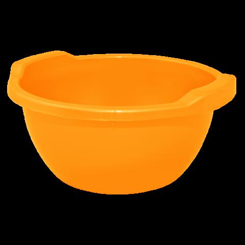 Таз круглый 24 л оранжевый Алеана 121055