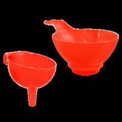 Воронка для банки 21х13,5х10 см красная Алеана 121064