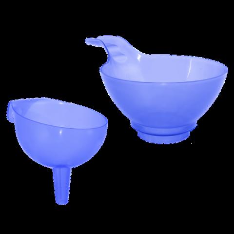 Воронка для банки 21х13,5х10 см голубая Алеана 121064