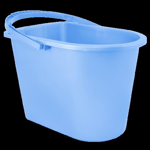 Ведро для уборки с отжимом 14 л голубое Алеана