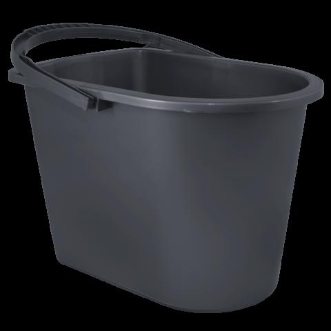 Ведро для уборки с отжимом 14 л чёрное Алеана