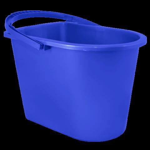 Ведро для уборки с отжимом 14 л синее Алеана