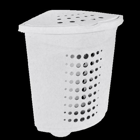 Корзина для белья угловая 45 л мрамор Алеана (122051)