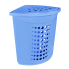Корзина для белья угловая 45 л голубая Алеана (122051)