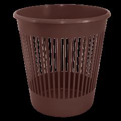 Корзина для бумаг 12 л коричневая Алеана (122052)